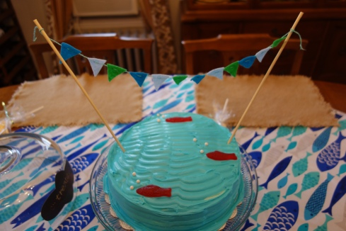 Homemade Fishy Cake